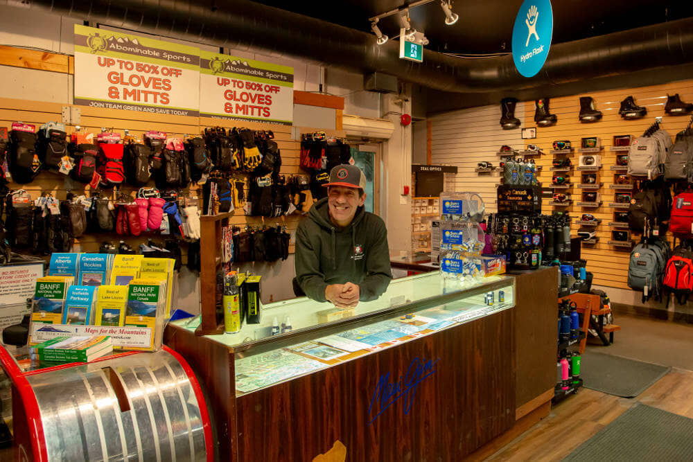 Abominable Sports Ski and Snowboard Store Banff Front Counter