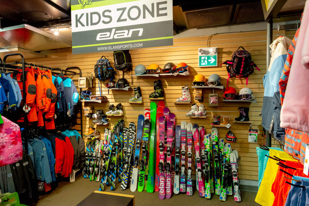 Abominable Sports in Banff, Alberta has the best range of kids rental equipment available in town.