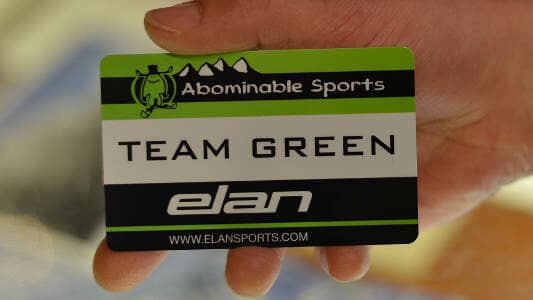 Abominable Sport's Discount Card - Team Green Card. Come into the store and get yours today.