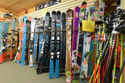 Try them then buy them - Demo skis for rental and sale in Banff Alberta.