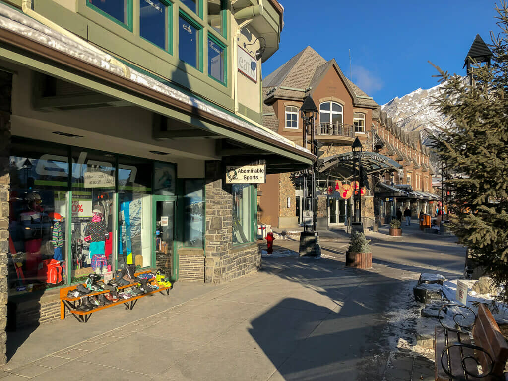 Abominable Sports Store Front in Banff, Alberta