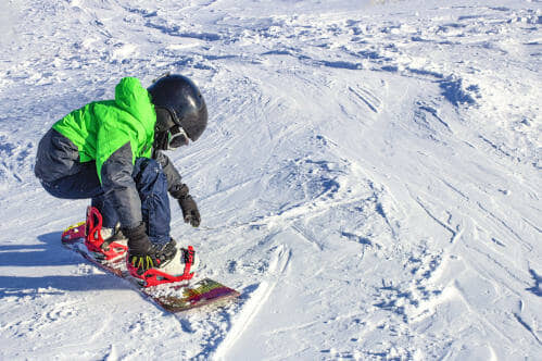 Children's Snowboard Equipment for Rental and Purchase. Abominable Sports - Banff, Alberta.